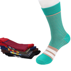 5 Pairs Men Socks Factory Price Colorful Striped Casual Cotton Short Sock Excellent Quality Breathable Male sock Size39-43