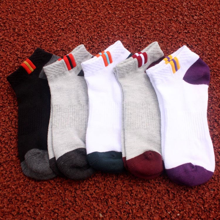 Costbuys  Cotton Men's Running socks basketball socks Outdoor Hiking Climbing Cycling socks Golf Tennis yoga sports socks - Mixe