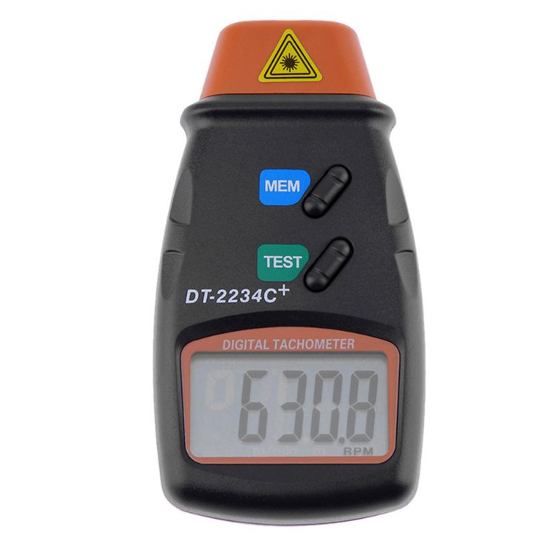 Costbuys  50-500M Handheld Non Contact LCD Digital Laser Auto RPM Photo Tachometer Black 25RPM ~ 99999RPM Speed Measuring Tool
