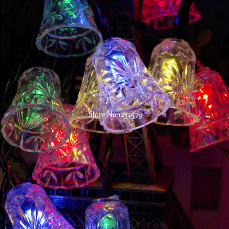 Costbuys  50 Small Bell String Lights 7M Solar outdoor Powered LED Fairy Lights Christmas Decoration Wedding Party - Warm White