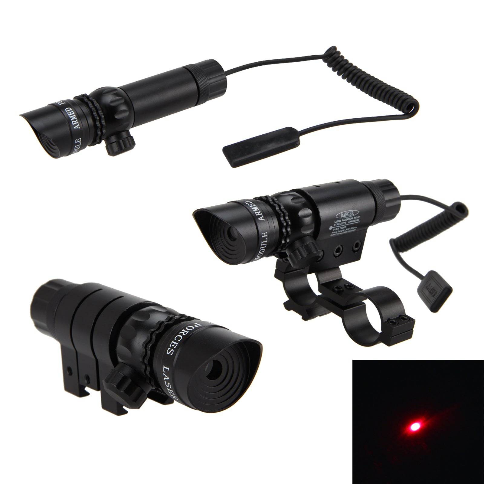 Costbuys  500m Tactical Green Red Dot Laser Sight mount For glock designator bore Hunt Picatinny Remote Switch Rifle Gun Scope R