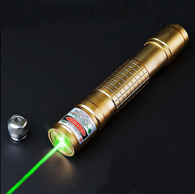Costbuys  532nm 2in1 Laser Pointer High Powered Adjustable Focus Burning Match Green Laser Pointer Pen 10000m - 5mW / green lase