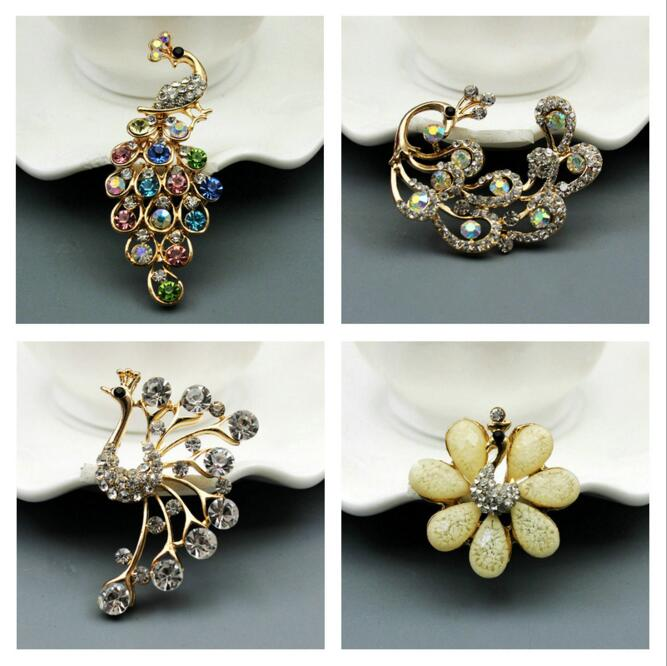 5pcs DIY Fashion charms Color Rhinestones peacock Alloy Shoe Clothing Jewellery accessories Cell phone Cosmetology necklaces key