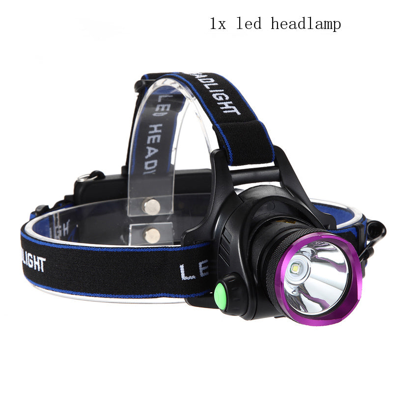 Costbuys  6000 Lumens CREE XM-L XML T6 LED Headlamp Headlight Flashlight Head Lamp Light + 2*18650 battery + charger + Car Charg