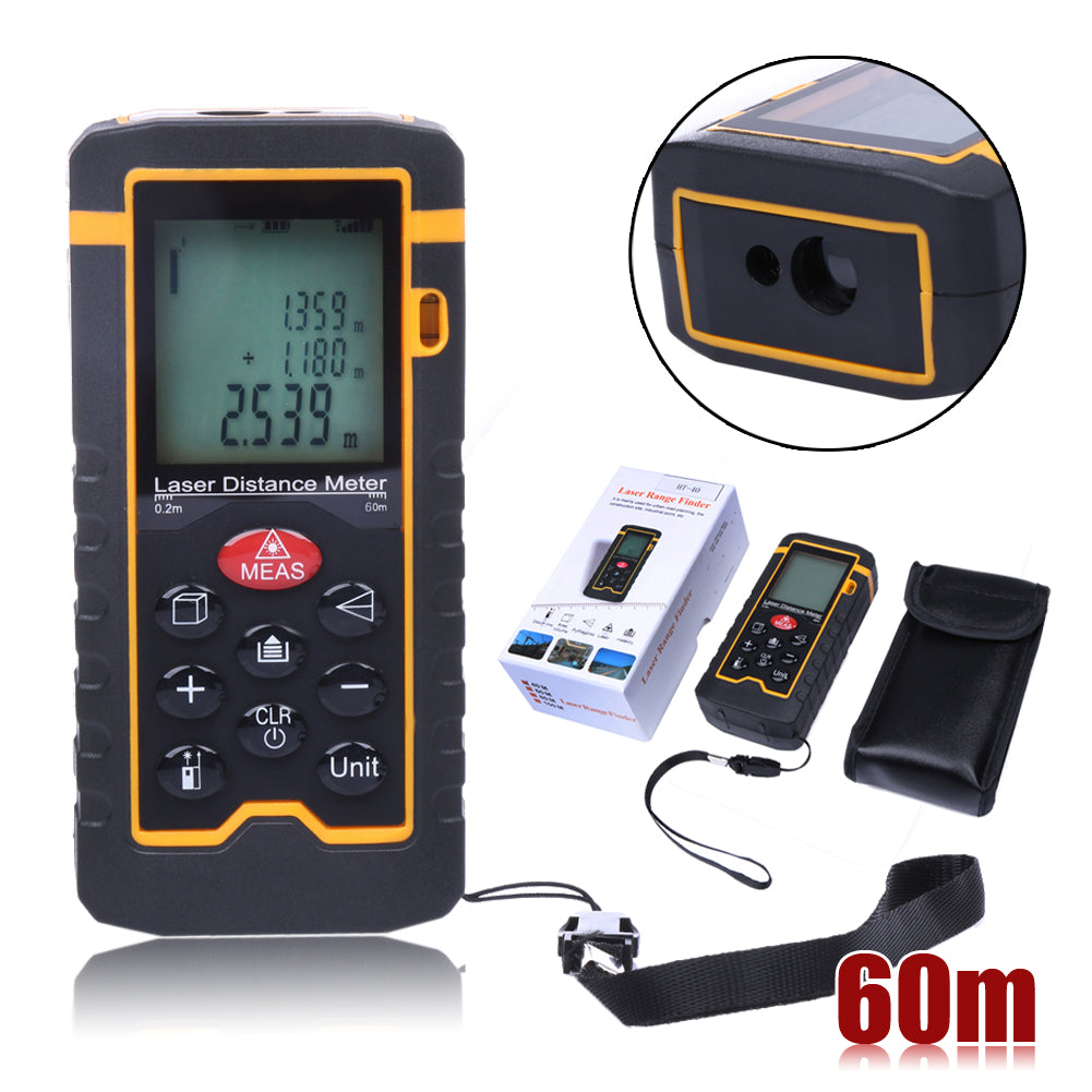 Costbuys  60M/197ft/2362 Laser Distance Meter Range finder Trena Laser Tape Measure Diastimeter