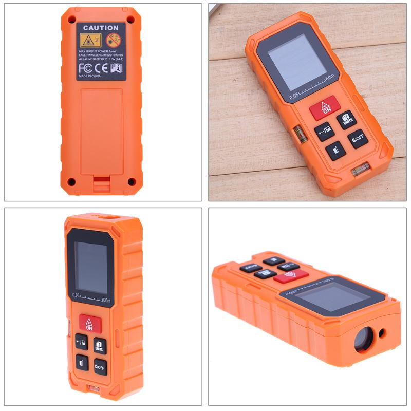 Costbuys  60M/197ft Handheld Digital Mini Laser Rangefinder Laser Tape Range Finder Diastimeter Measure Volume Distance Area Met