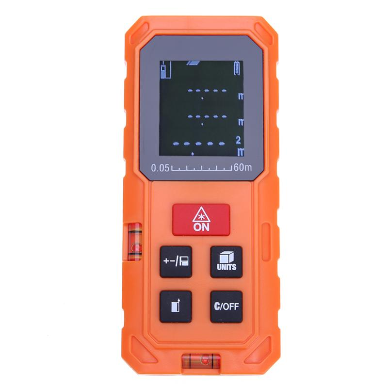 Costbuys  60M Handheld Digital Laser Distance Meter Mini Laser Rangefinder Laser Tape Range Finder Diastimeter Measure IP54 AAA