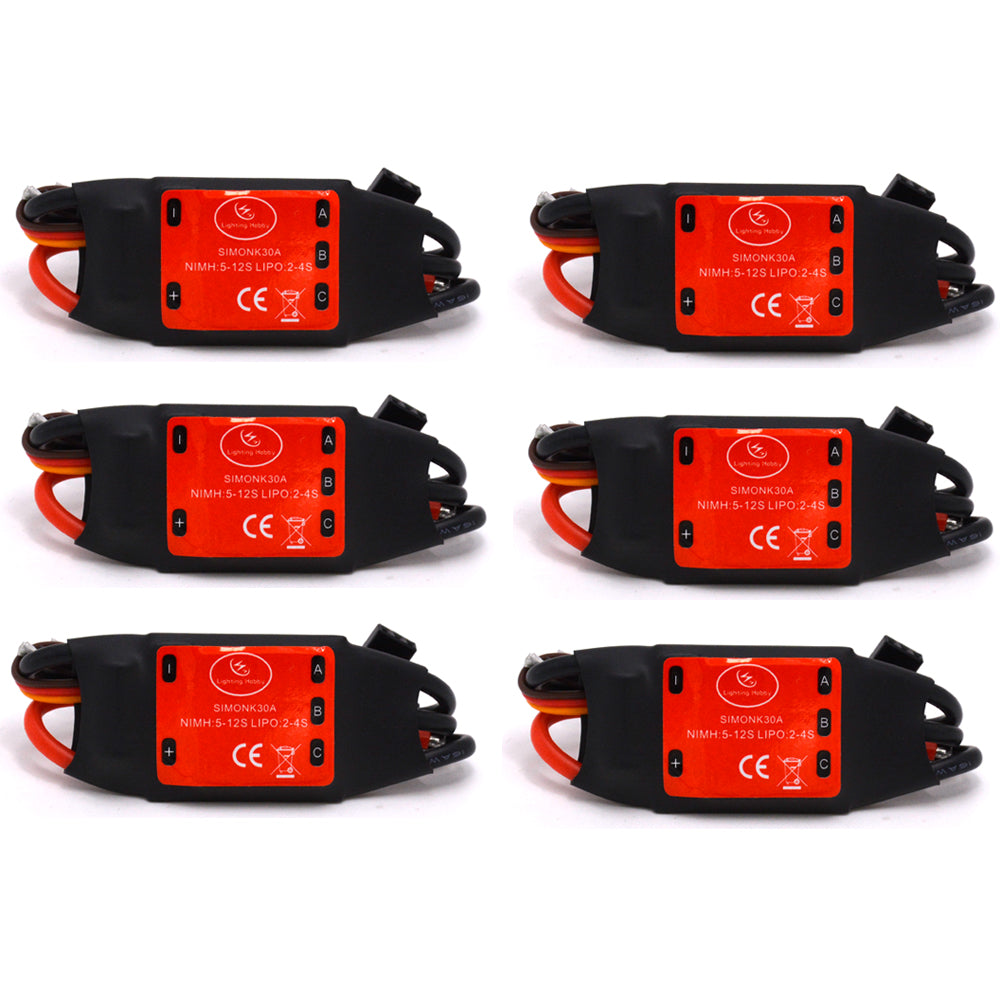 Costbuys  6PCS simonk30A Brushless Motor Speed Controller Control RC BEC ESC for T-rex 450 Helicopter