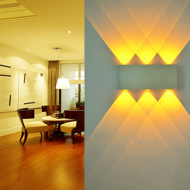Costbuys  6W Modern LED Wall Lamp Indoor Stairs Light Sconce Fixture Bedside Living Room 110V 220V Wall Mounted Decoration Light