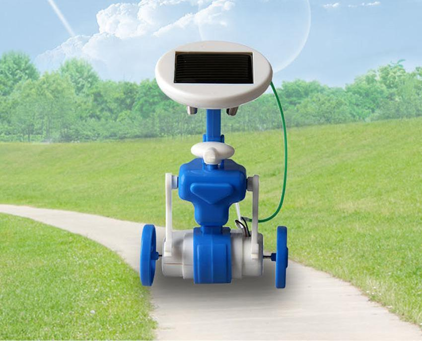 Costbuys  6in1 DIY solar toy kit Transforming robot windmill plane car educational solar power Kits Novelty solar robots Gift Fo