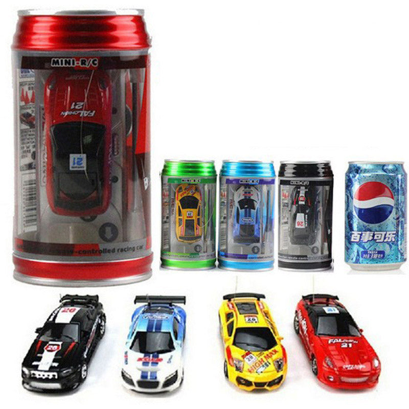 Costbuys  8 Colors 20Km/h Coke Can Mini RC Car Radio Remote Control Micro Racing Car 4 Frequencies Toy For Kids Gifts RC Models