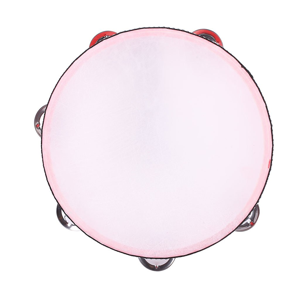 Costbuys  8'' Inch Musical Instrument Tambourine Round Drum Percussion Gift Party - red