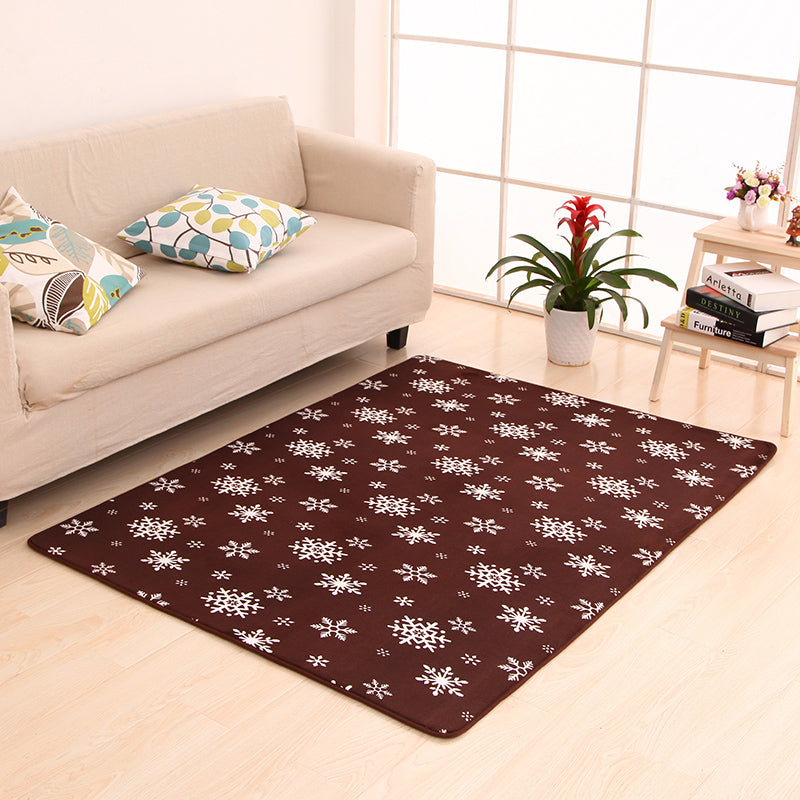 Costbuys  9 Sizes Modern Rugs and Carpets for Home Living Room Coral Fleece Water Slip Floor Mat Kitchen Bedroom Rug - I / 40x60