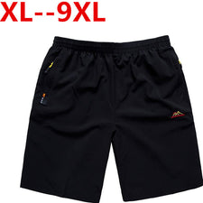 9XL 8XL 6XL 5X Casual Men Shorts Beach Board Shorts Men Quick Drying Summer Style Solid Polyester Clothing Boardshorts