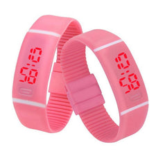 9inch Silicone Date Mens LED Sports Watch Bracelet digital Wrist Rubber 7 time numbers Shows 20cm Digital Womens Watch