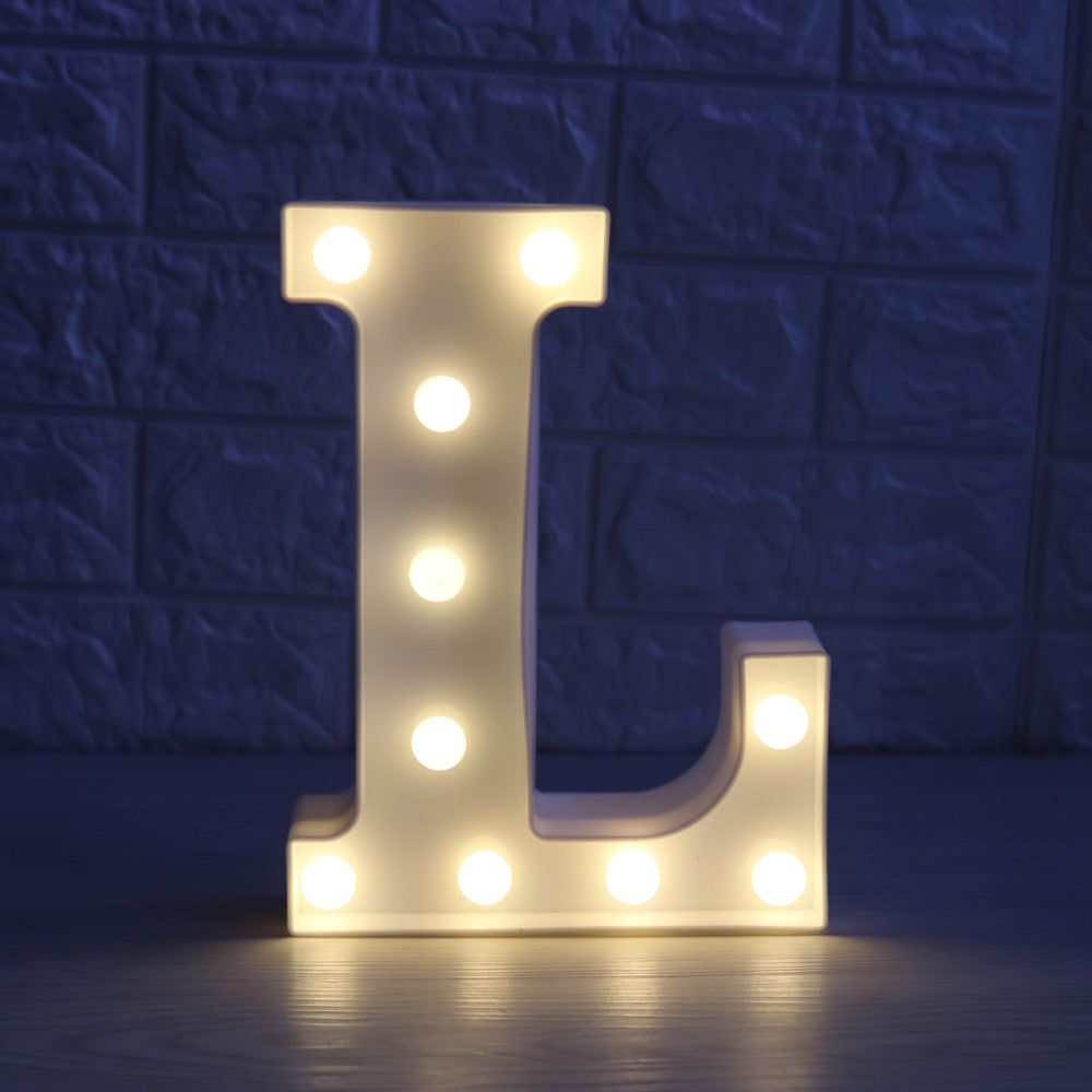 Costbuys  A-Z Alphabet Letter LED Light Bulbs Lamp Light Up Decoration Symbol Indoor WALL Decoration Wedding Party Window Displa