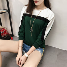 Autumn Winter Long Sleeve T shirt Women Tops Tshirt Women T-shirt O-neck Loose Cotton Tee Shirt Plus Size