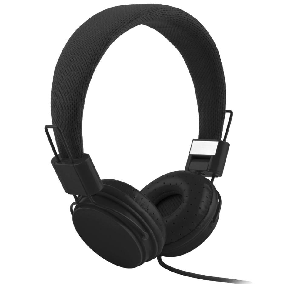 Costbuys  Adjustable Foldable Kid Wired Headband Earphone Headphones with Mic Stereo Bass gaming  Music Calling Phone Call - bla