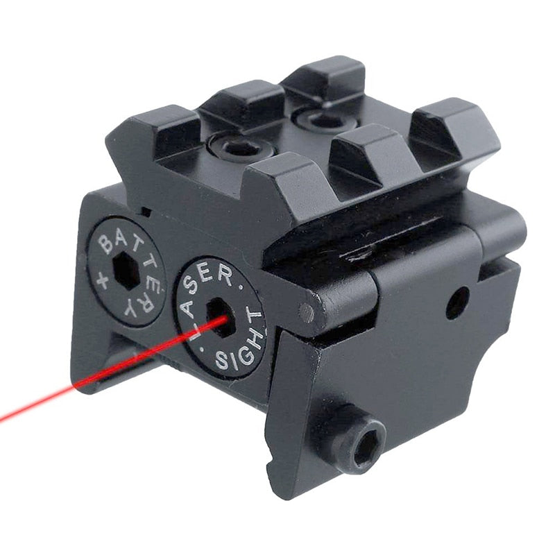 Costbuys  Adjustable Mini Red Dot Laser Sight Compact With Detachable Picatinny 20mm Rail For Pistol Air-gun Rifle Hunting Acces