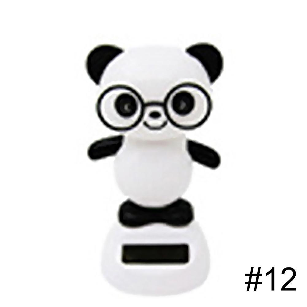 Costbuys  Adorable Solar Powered Dancing Monkey Cat Panda Animal Father Christmas Swinging Animated Bobble Dancer Toy Car Decora