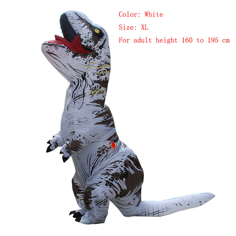 Costbuys  Adult  T-REX Inflatable Costume Christmas Cosplay Dinosaur Animal Jumpsuit Halloween Costume  Men - white size XL / T