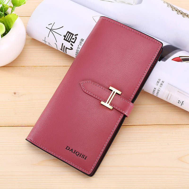 Costbuys  Women Wallet Bag Luxury Ladies Casual Leather Hasp Pouch Clutch Solid Small Female wallet women large capacity - Hot p