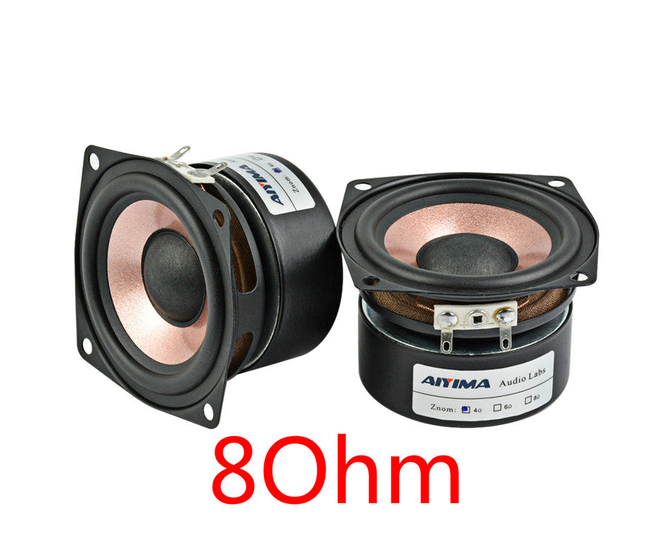 Costbuys  2PC 2.5Inch Audio Speaker 4Ohm 8Ohm HIFI Desktop Full Range Speaker High Sensitivity Loudspeaker 8-15W - 8Ohm