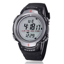 Alarm Function Date and Time Stopwatch Timing Watches Waterproof Outdoor Sports Men Digital LED Quartz Alarm Date Wrist Watch