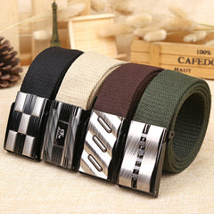 Alloy Buckle Tactical Belt For Men Casual Style Male Belt Canvas Strap Men Waist Belts Cummerbunds For Jeans