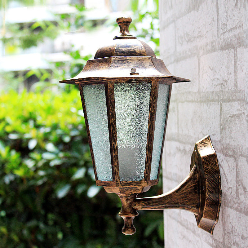 Costbuys  Aluminum and glass European style retro LED wall lamp outdoor lights villa balcony garden lamps lamp waterproof lamp -