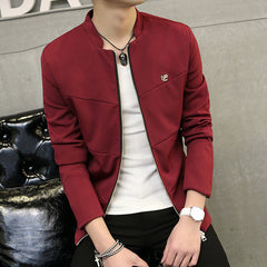 Spring Autumn Fashion Men Jacket Casual Slim Fit Zipper Coat Baseball Bomber Jacket Outerwear Veste Homme