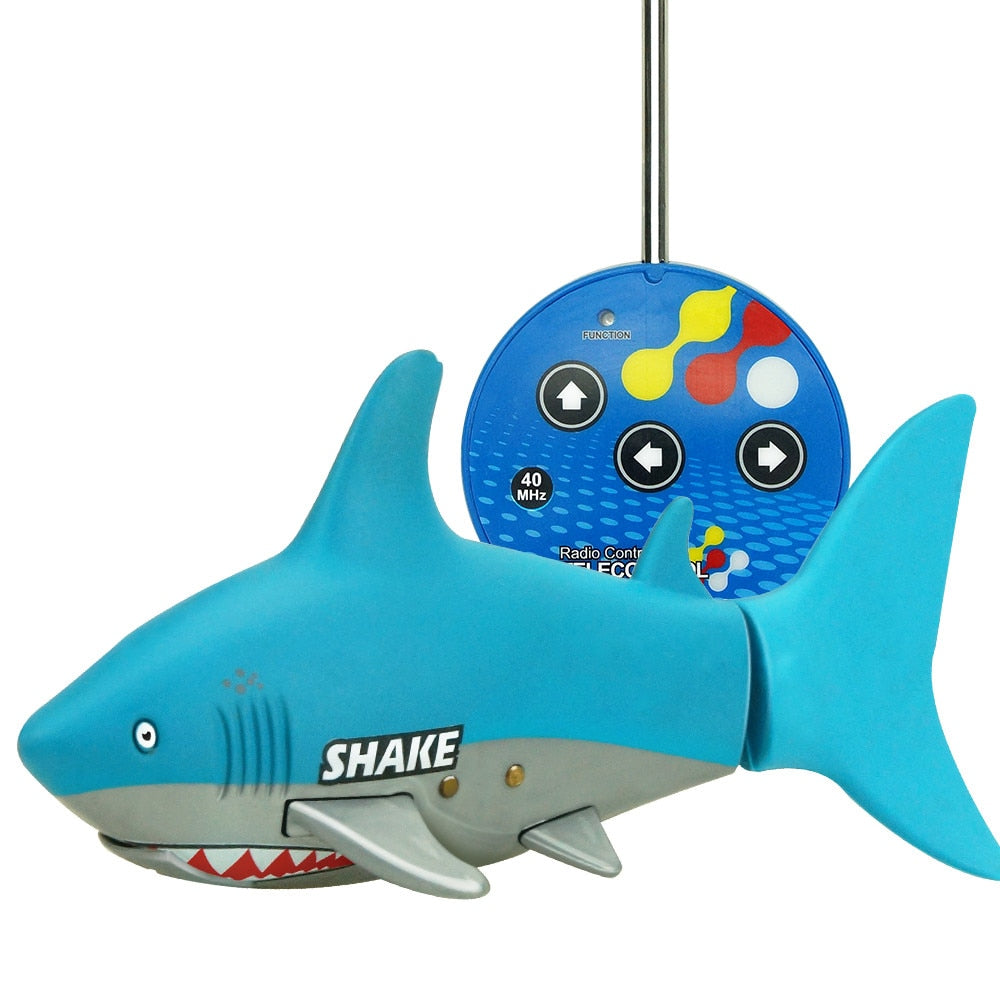 Costbuys  Animal toys for children Pet Remote Control Mini RC Shark Toy Remote Control Fish Boat Kids Fish With USB Cable Kids G