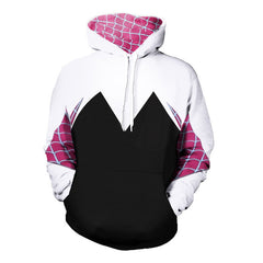 Anime Spider-Man Spider Gwen Stacy Cosplay Hoodie Men's Women Hoodies Sweatshirts Casual Jacket Costume Coat