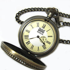 Antique Bronze Two Dial Mechanical Pocket Watch Magnifier