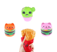Antistress Milk/Doughnut/banana/French Fries Squishy Slow Rising Kawaii Squishies Scented Sweet Cream Charms Bread Kids Toy Novelty & Gag Toys