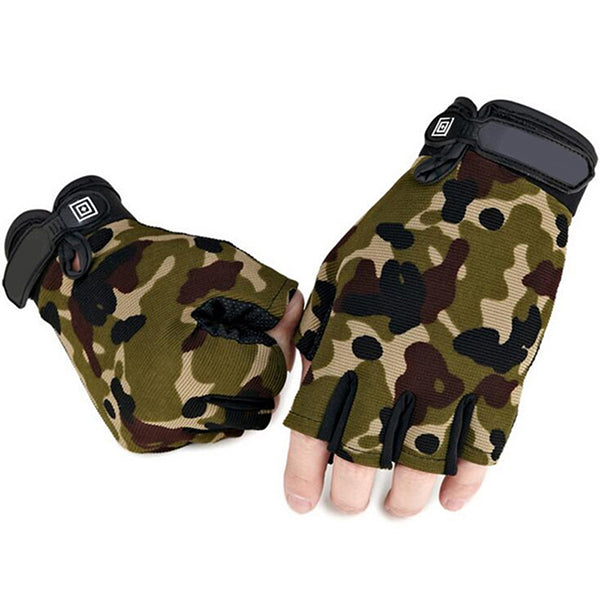 Costbuys  ArmyTactical Gloves Military Camouflage Gym Gloves Men's Fitness Bicycle Weightlifting Gym Gloves - Multi