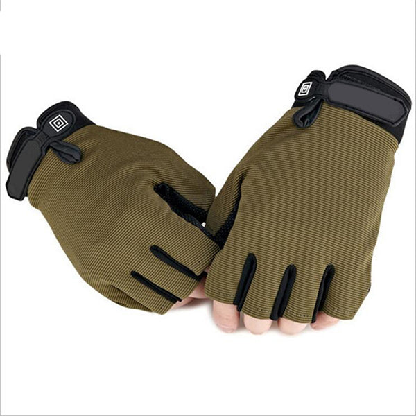Costbuys  ArmyTactical Gloves Military Camouflage Gym Gloves Men's Fitness Bicycle Weightlifting Gym Gloves - Army Green