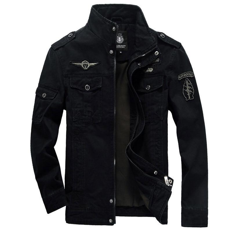 Costbuys  Autumn And Winter New Style Men Jacket Leisure Special Forces Uniform Flight Suit Outdoor Sports Tooling Coat - black