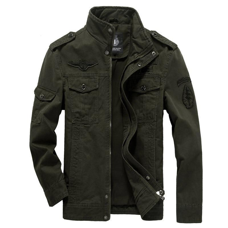 Costbuys  Autumn And Winter New Style Men Jacket Leisure Special Forces Uniform Flight Suit Outdoor Sports Tooling Coat - green