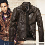 Autumn Winter Leather Jackets Men Jaqueta Couro Masculino Bomber Leather Jacket Sheepskin Coat Motorcycle Jacket
