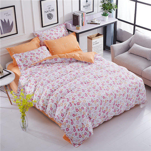 Costbuys  Autumn bedding set super king size duvet cover purple bedding 3/4pcs bed set flower bed linen flat sheet Adult bed set