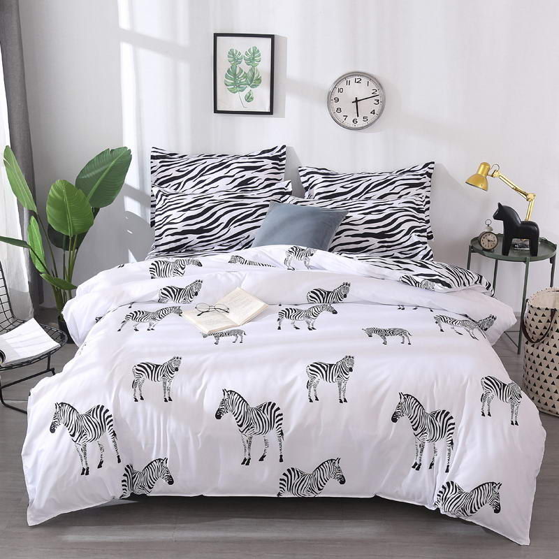 Costbuys  BEST luxury Duvet Cover flat bed Sheets +Pillowcase  King Queen full Twin Bedding Set Bedding Set - A5 / twin cover 15