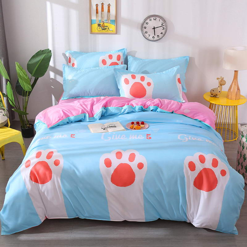 Costbuys  BEST luxury Duvet Cover flat bed Sheets +Pillowcase  King Queen full Twin Bedding Set Bedding Set - A3 / queen cover 1