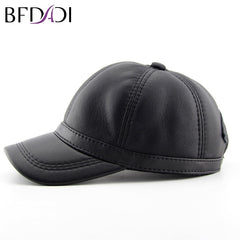 Winter Sheepskin Baseball Cap New Biker Trucker Outdoor Sports Snap back Hats Warm Caps Large Size 60 cm