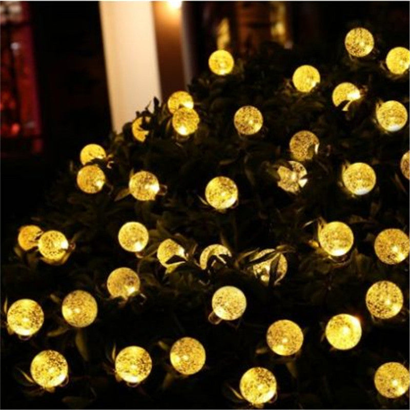 Costbuys  5M 20LEDs Holiday Light Crystal Ball LED String Solar Lamp Outdoor Waterproof Fairy Light Garden Solar Decorative Ligh