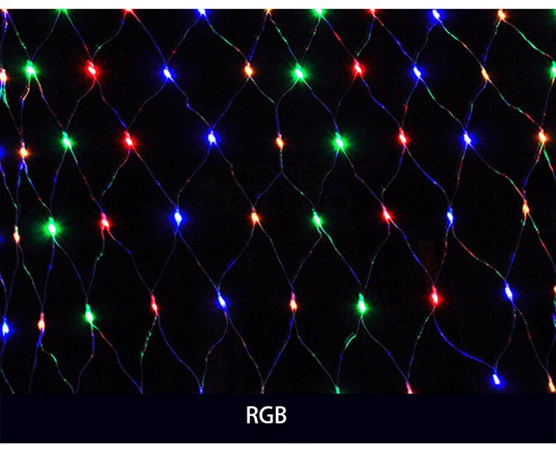 Costbuys  200 LED 2*3m Holiday Lights Garden Square Christmas Led String Light Mesh Nets Fairy Halloween Holiday Lighting - Chan