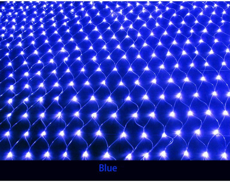 Costbuys  200 LED 2*3m Holiday Lights Garden Square Christmas Led String Light Mesh Nets Fairy Halloween Holiday Lighting - Blue