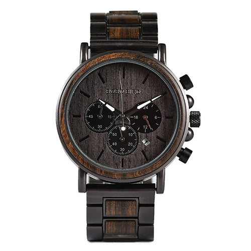 Costbuys  Gold Watch Men Luxury Wooden Wristwatches Date Display Stop Watches reloj golden hour Mens/Womens Quartz Watches - Lig