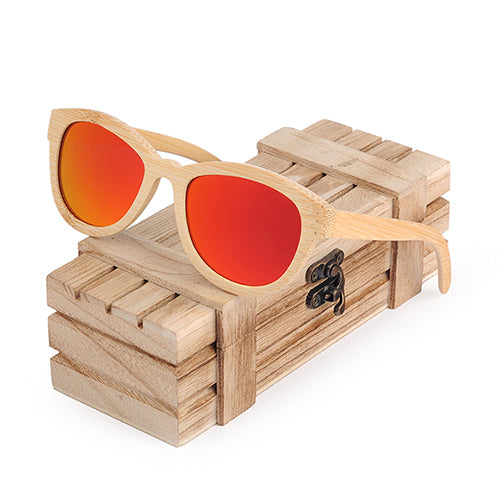Costbuys  Sunglasses Women Men Polarized Eyewear As Best Gift With Wooden Gift Box oculos - Red Lens