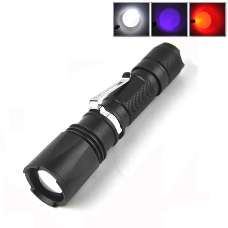 Costbuys  Ultra Violet Flashlight UV 395nm Portable Led Zoomabel Flash Light Waterproof Tactical Torch Light for Camping Hunting